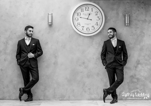 Groom portrait by Sydney Wedding Photography